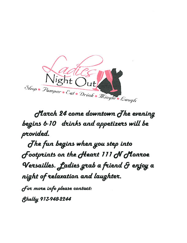 LADIES NIGHT OUT 3-24-16
